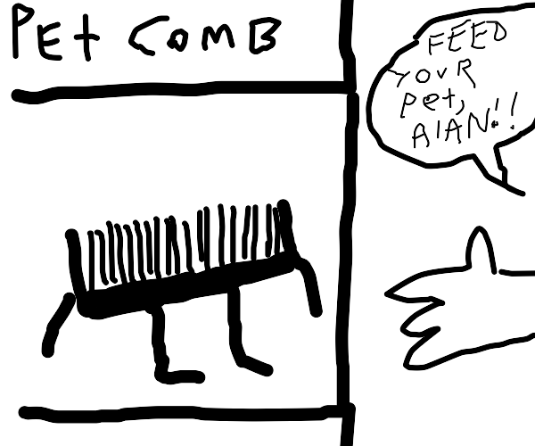 Feed your pet comb