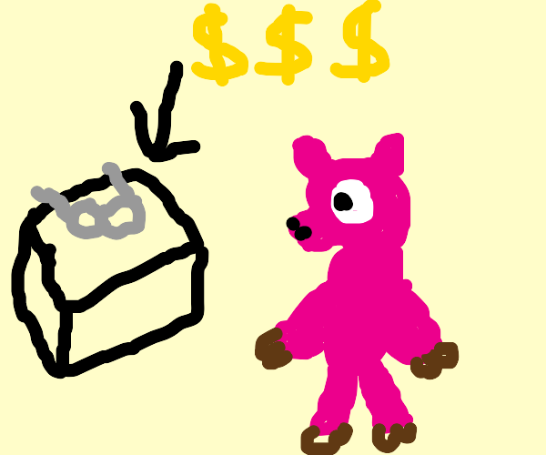pig buying an expensive eyeglasses