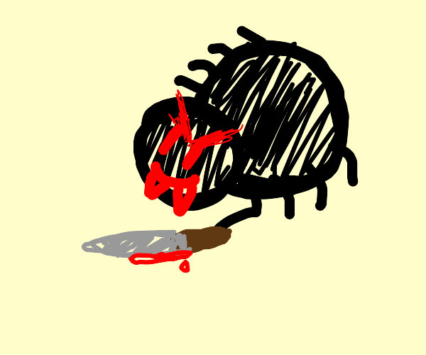 Evil murderous spider