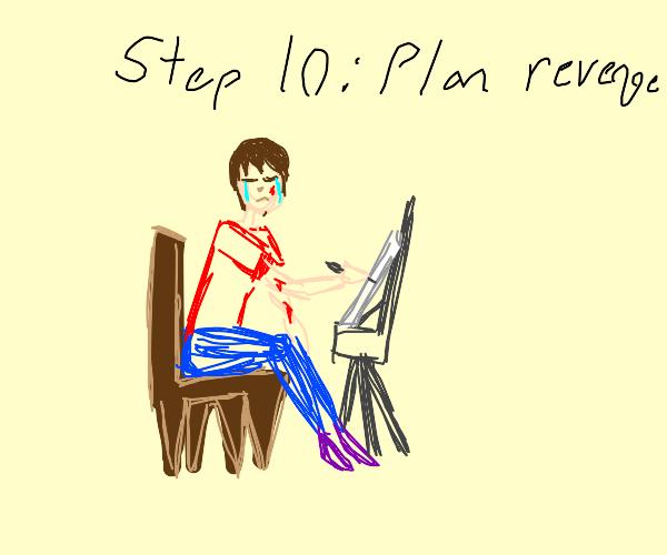 Step 9: You crawl away, crying & bleeding