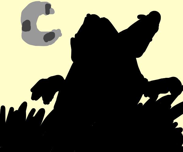 Monster in the dark field