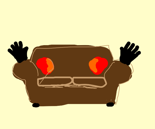 Couch wearing Gloves