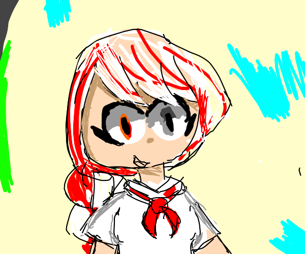 Candy Cane Anime Girl