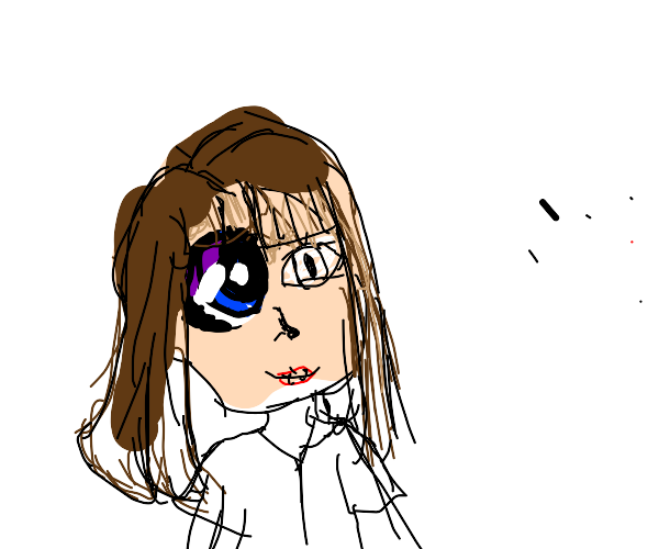 Horrifying half realistic half anime girl