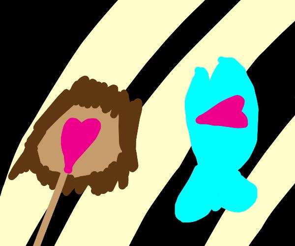 Girl and creepy tuna fall in love