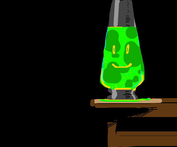 lava lamp with face