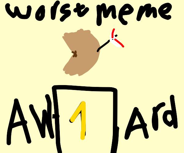 arrow to the leg awarded worst meme