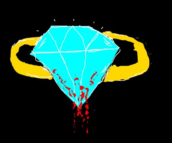 Sharp looking diamond ring