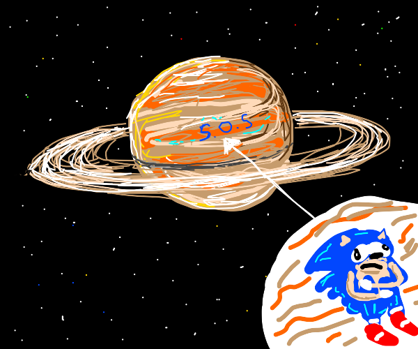 Sonic trapped in Saturn