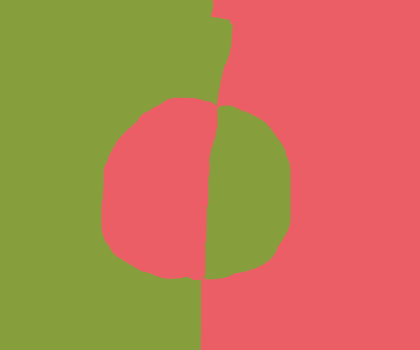 Half-inverted Bangladeshi flag