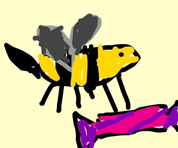 Bee carrying Candy