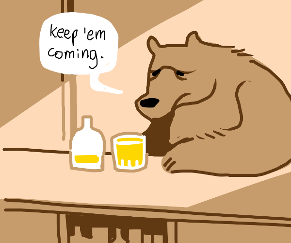 a bear in a bar
