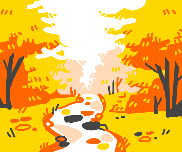 A brook in a forest