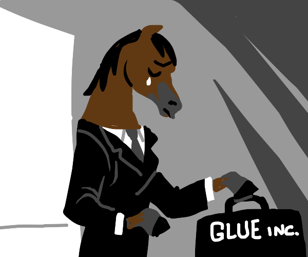 Business horse comes home, crying (Boohoo)
