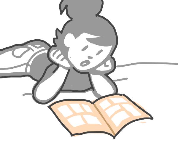 reading a comic book
