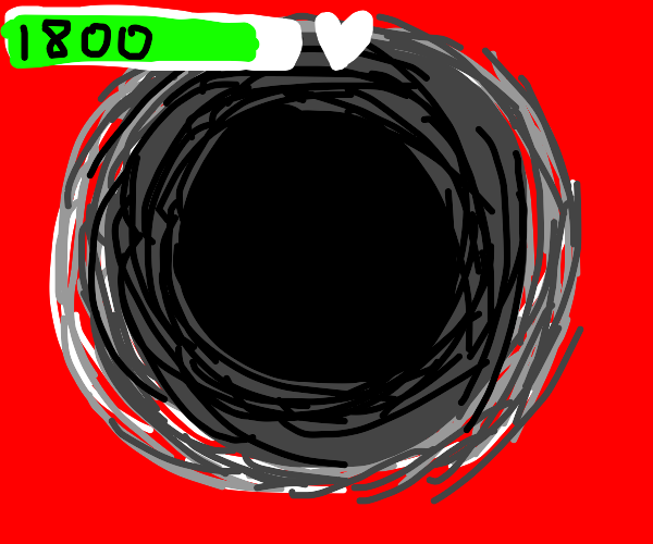 A black hole with 1800 HP