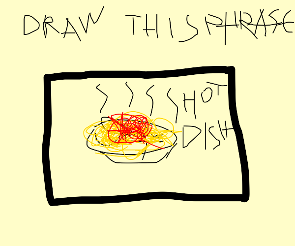 Hot Dish in a Drawception panel