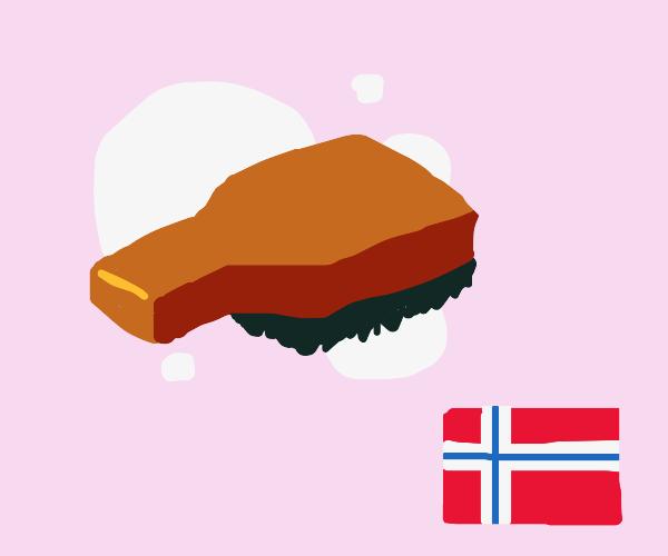 Norwegian hairbrush