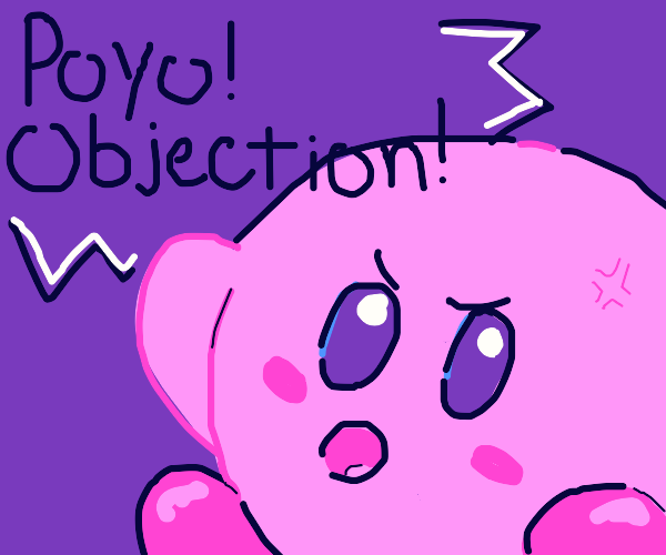 """Kirby shouts out """"Objection!"""""""
