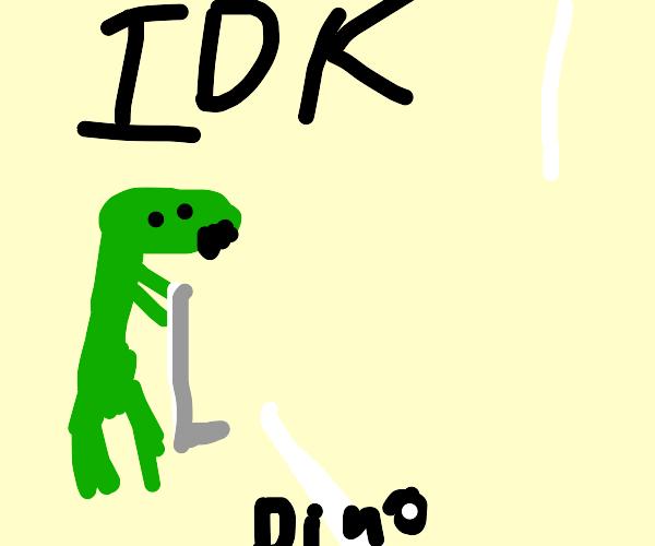 dinosaur golfing