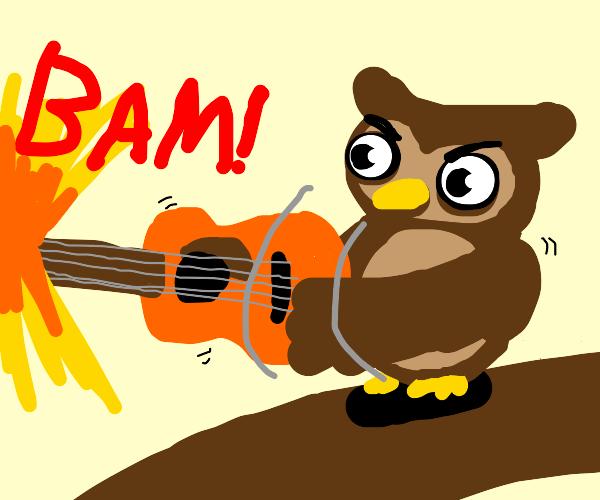Owl firing Guitar
