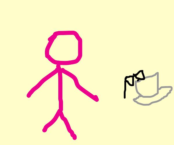 Joji / Pink guy with sunglasses in tea