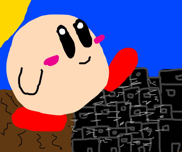 Giant Kerby terrorizes city