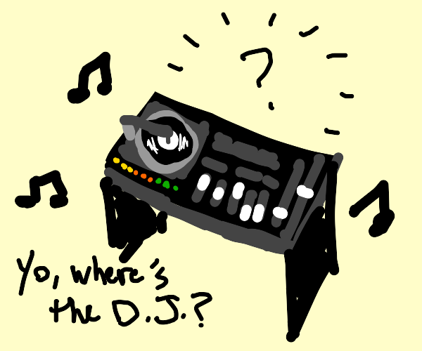 dj table but there is no dj