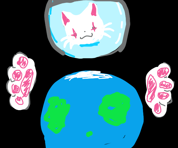 Mega cat thinks earth is a toy