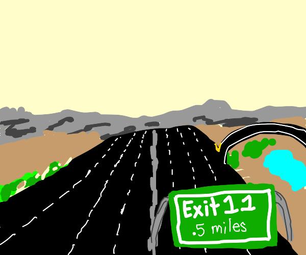 highway exit sign