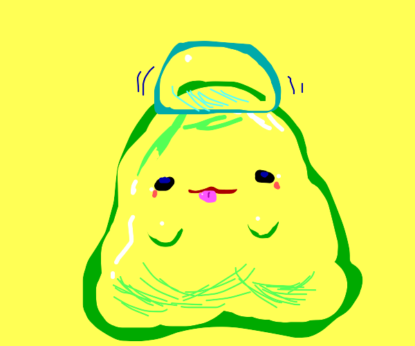 Slime monster with jello on his head