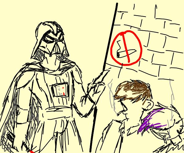 Vader stops teens from smoking