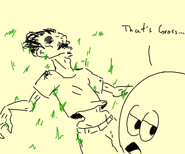 "guy found a dead body ""That's Gross"""