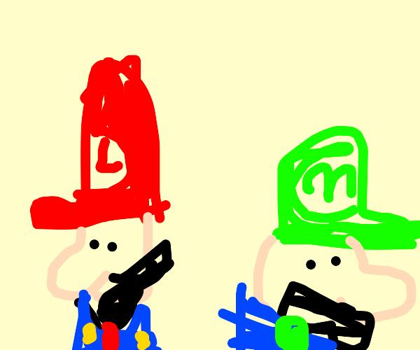 red luigi and green mario