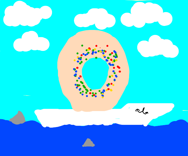 A Donut crossing the Ocean