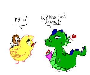 Dragon can't get chicks