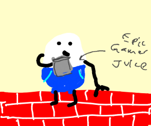 Humpty Dumpty drinks some epic gamer juice