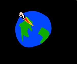 Man leaves Earth forever