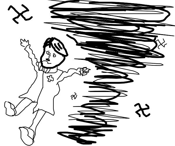 Hitler stuck in a Nazi tornado