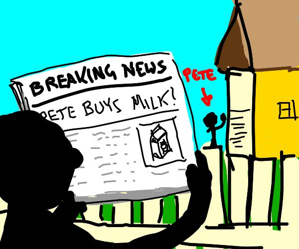 breaking news! my neighbor pete buys MILK! :o