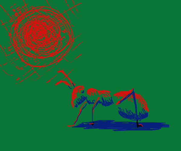 the sun terrorizes an ant
