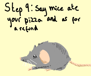 Step 8: Eat the pizza