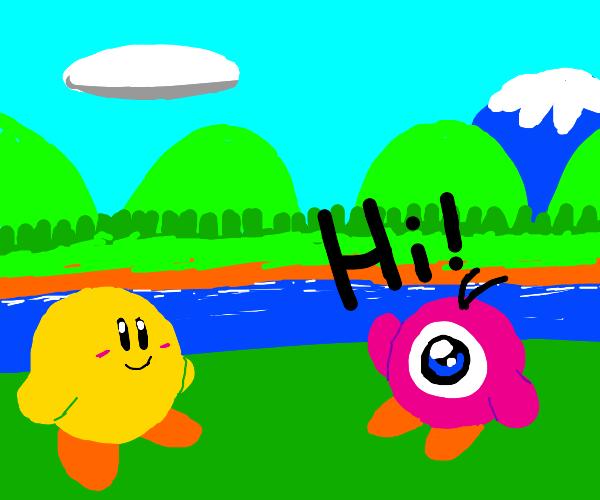PinkWaddleDoo welcomes ylwKirby to Dream Land