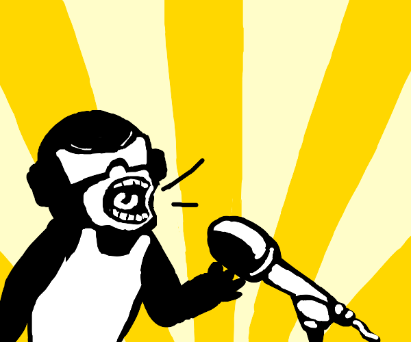 tankman screaming into a microphone