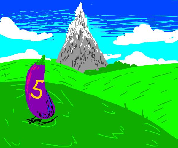 Eggplan5 looks at mountain