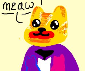 Miranda Sings as an orange cat saying meaw