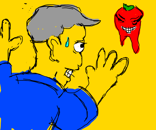 Simpsons Principal Scared Of Tooth Tomato