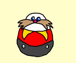 Dr eggman is a literal egg