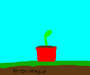 Plant with #goveggie written under it