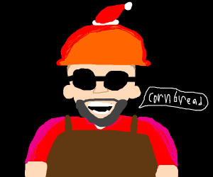 Engineer Tf2 With A Christmas Hat Drawception